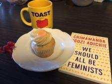 Book & cupcake