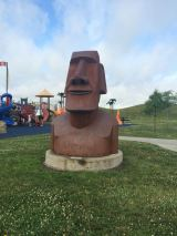The Easter Island Head in Altoona, IA
