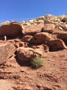 Rocks at the meteor crater that look out of this world