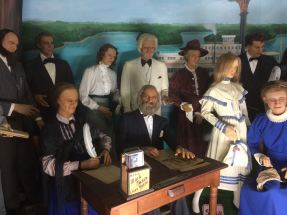 If you stare too long, you may start to believe that these wax figures move.
