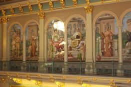 One of the murals throughout the building